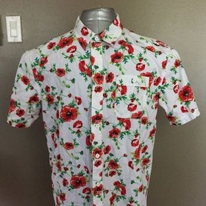 WTO2 New york mens short sleeve Floral Large F8